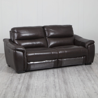 Beta Three-Seater Leather Recliner