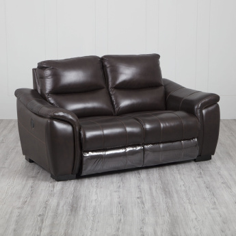 Beta Two-Seater Leather Recliner
