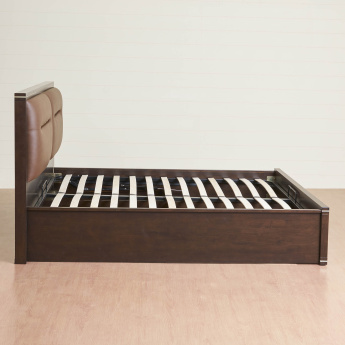 Valencia Queen Size Bed With Hydraulic Box Storage-150X195 Cms
