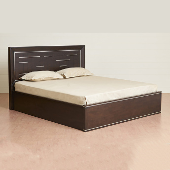 Valencia Elvis Queen Size Bed With Hydraulic Box Storage-150X195 Cms