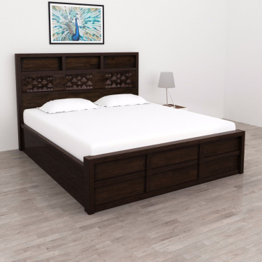on sale 5524b eca95 Rio Solid King-Size Bed with Box Storage - 180 x 195 cm