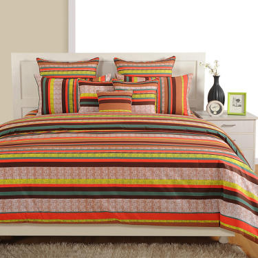 1a17d361b8 SWAYAM Striped Cotton Double Bed Sheet-Set Of 3 Pcs. | Multicolour ...