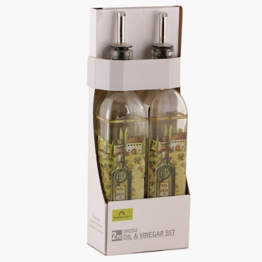 Drizzle Oil/Vinegar Bottle- Set Of 2 500 ml.