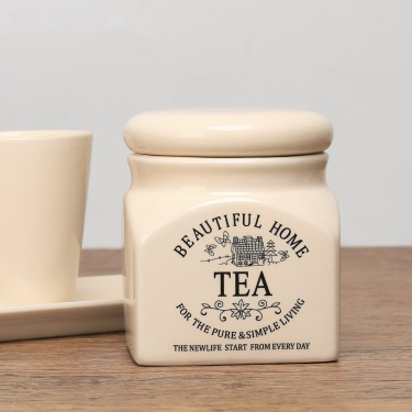 Beautiful Home Dolomite Tea Canister